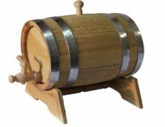 Barrels are oak, for wine, fruit liqueurs and