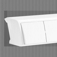 Горизонтальный блок Белый Выключатель 2-й +