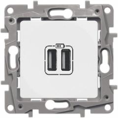 Розетка USB двойная Белый ETIKA LEGRAND...