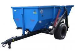 The semi-trailer the self-dumping NTS-5, loading