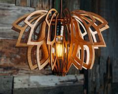Люстра деревянная СОНЦЕ by smartwood | Люстра лофт