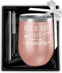 """Подарочный набор бокал для вина """" Что ни день"""