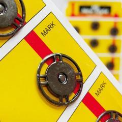 D=21 мм кнопки металлические декоративные для одежды пришивные графит (653-Т-0751)