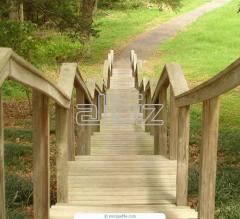 Лестницы Из натурального дерева, ясень, дуб.