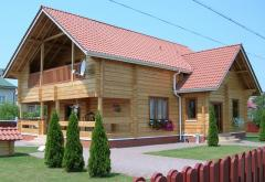 The house wooden from a bar Vinnytsia
