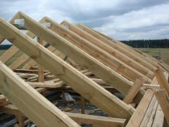 Rafters for a roof, the price