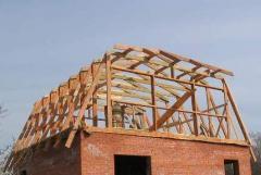 Rafters of a broken roof