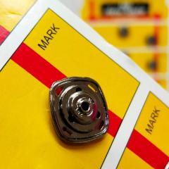 D=15 мм кнопки металлические декоративные для одежды пришивные графит (653-Т-0760)