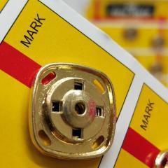 D=20 мм кнопки металлические декоративные для одежды пришивные золотой (653-Т-0763)