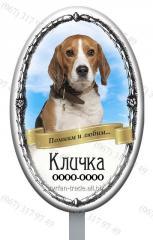 Поминальная памятная табличка для животных с