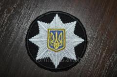 Кокарда Полиции Пришивная