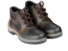 Рабочие ботинки кожаные (спецобувь)