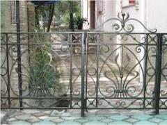 Кованые ограды, ворота, ручная работа,