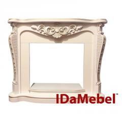 Портал IDaMebel Dallas White с патиной-золото