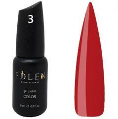 Гель-лак Edlen №3 (классический красный, эмаль), 9