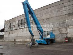 Loading crane of Fuchs MHL350 of 1998 from a