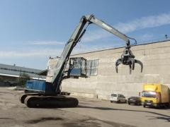 Loading crane of Akerman EC300 of 1994 from a