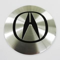 Наклейки Acura D56 мм алюминий (Черный логотип на