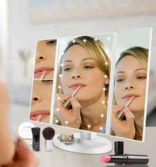 Зеркало тройное для макияжа с LED подсветкой