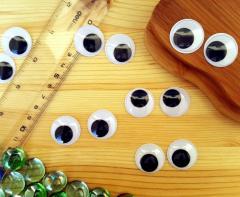 (10грамм, Ø25мм) Подвижные глазки для игрушек Ø25мм (26-30 глазок) (сп7нг-4189)
