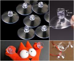 (10шт) Присоски силиконовые универсальные Ø3см, прозрачные присоски (сп7нг-4177)