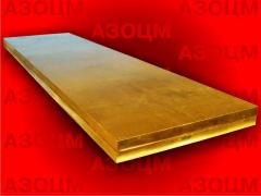 Plates copper, brass, bronze
