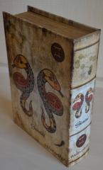 Шкатулка книга из искусственной кожи
