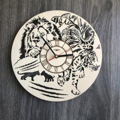 Бесшумные настенные часы из дерева круглые
