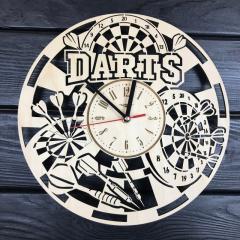 Круглые настенные часы из дерева «Дартс»