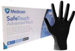Перчатки нитриловые Medicom Черные медицинские