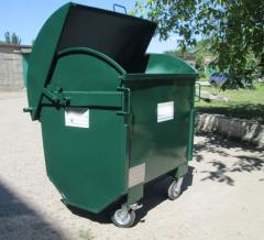 Trash cans with a round roof - production.