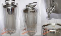 Бидон большой 50 литров, нержавеющая сталь