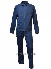The suit is man's summer flight dark blue