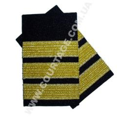 Shoulder straps of civil aviation 3 strips gold