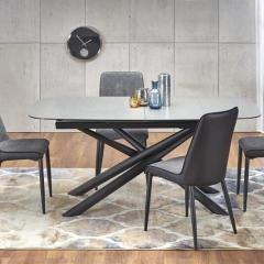 Стол обеденный CAPELLO раскладной (темно-серый /