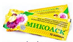 Mikoask | Drug for treatment of an aspergillosis of bees