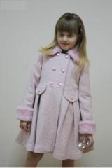 Пальто для девочек. Пальто 1337. Размеры: 110-146.