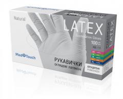 Латексные перчатки опудренные