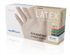 Латексные перчатки неопудренные XL