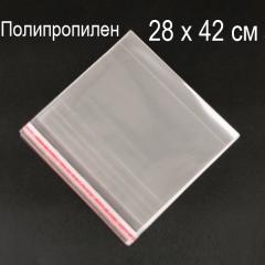 28х42 см (500шт.) Пакеты ПолиПроПилен с верхним клапаном и липкой полосой (339-Kiwi-127)