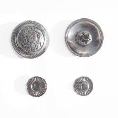 """Кнопка """"Герб""""- 17мм Блэк никель 50шт. Нержавейка (ИР-0132)"""