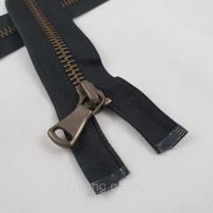 Металлическая молния Т-5 16 см., тесьма - черная, звено - антик. (СТРОНГ-1405)