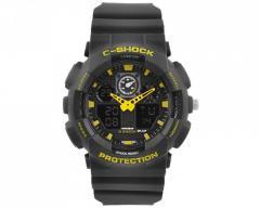 Часы наручные C-SHOCK GA-100 Black-Yellow,