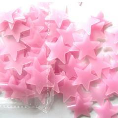Набор розовых светонакопительных звезд...