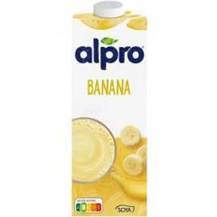 Соевое молоко напиток Alpro с банановым вкусом 1л