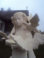 He sculpture is park, a sculpture garden
