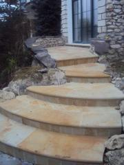 Steps from a natural stone