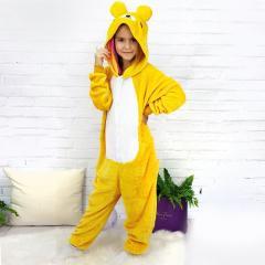 Взрослый Кигуруми - Желтый медведь - пижама
