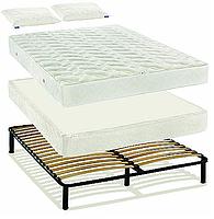 """Система для сна """"Простое решение"""" № 1  Систему для сна Простое Решение с двусторонним матрасом, зима-лето, на пружинном блоке Pocket spring, Покет Спринг или Боннель / Bonnel, 2 подушки."""