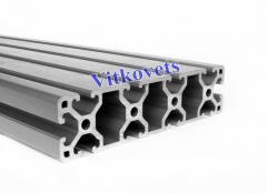 Станочный алюминиевый профиль 40х160 3000мм